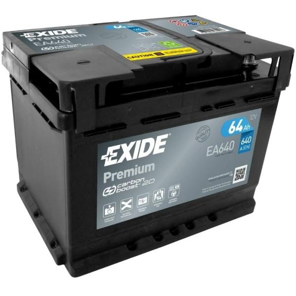 Exide EA640 Premium Carbon Boost 64Ah Autobatterie 563 400 061