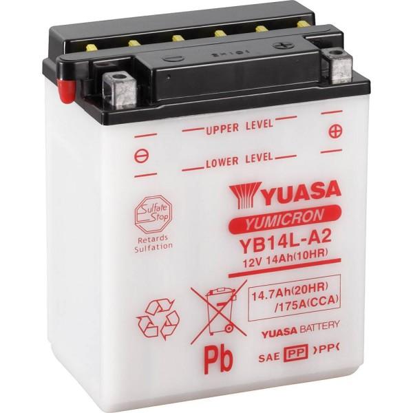 Yuasa YB14L-A2 Motorradbatterie 14Ah (DIN 51411) 12V