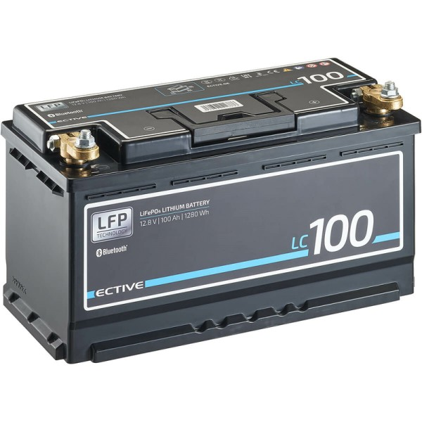 ECTIVE LC 100 BT 12V LiFePO4 Lithium Versorgungsbatterie 100 Ah