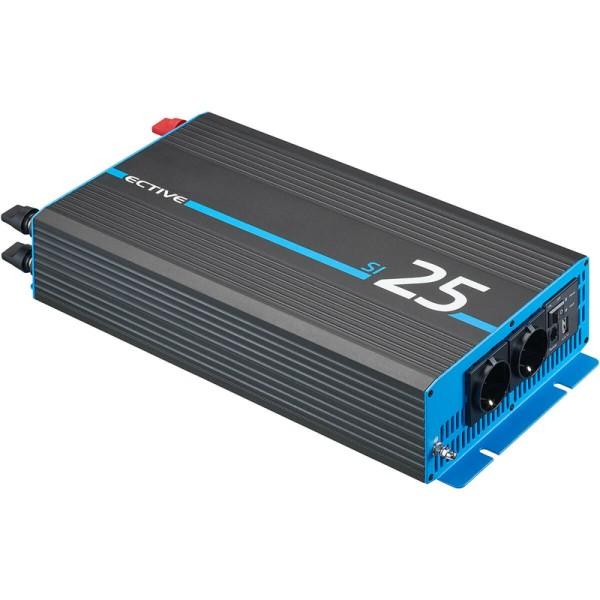 ECTIVE SI 25 2500W/12V Sinus-Wechselrichter mit reiner Sinuswelle