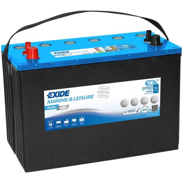 Exide-EP900-Dual-AGM-100Ah-Batterie