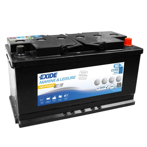 exide es900 equipment gel 80ah batterie gel g80. Black Bedroom Furniture Sets. Home Design Ideas