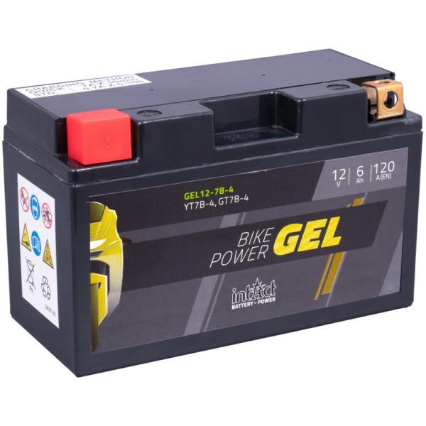 Intact GEL12-7B-4 Bike-Power GEL 6Ah Motorradbatterie (DIN 50719) YT7B-BS, YT7B-4