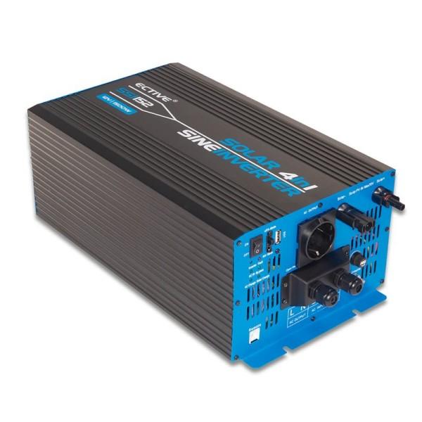 ECTIVE SSI152 4in1 Sinus-Inverter 1500W/12V Sinus-Wechselrichter mit MPPT-Solarladeregler, Ladegerät und NVS