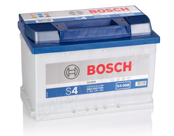 bosch s4 008 74ah autobatterie. Black Bedroom Furniture Sets. Home Design Ideas