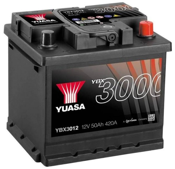 Yuasa YBX3012 Autobatterie 50Ah