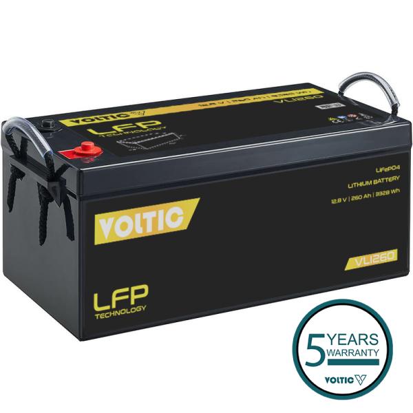 VOLTIC VLI260 12V LiFePO4 Lithium Versorgungsbatterie 260Ah