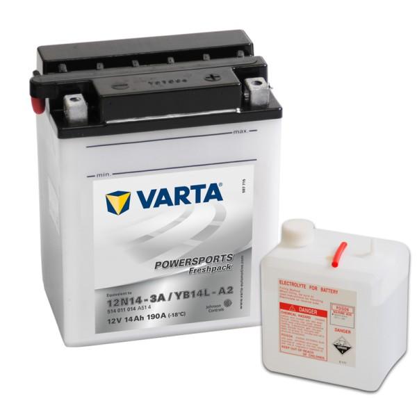 VARTA Powersports Freshpack YB14L-A2 14Ah Motorradbatterie 12V (DIN 51411)