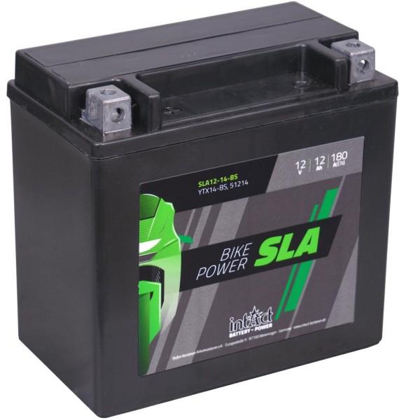 Intact SLA12-14-BS Bike-Power SLA 12Ah Motorradbatterie (DIN 51214)