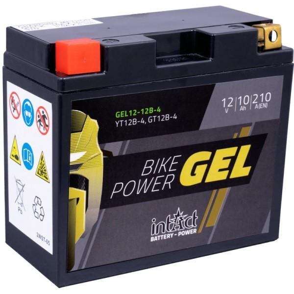 Intact GEL12-12B-4 Bike-Power GEL 10Ah Motorradbatterie (DIN 51015) YT12B-BS