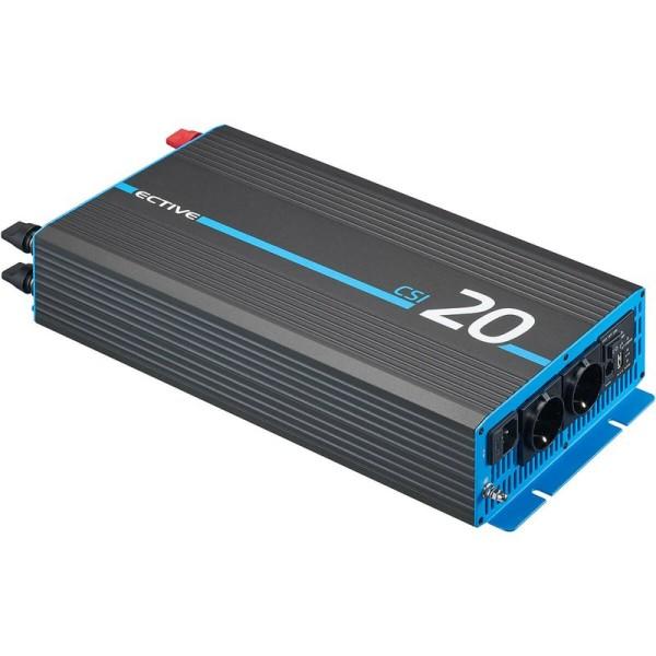ECTIVE CSI 20 2000W/12V Sinus-Wechselrichter mit Ladegerät, NVS- und UVS-Funktion