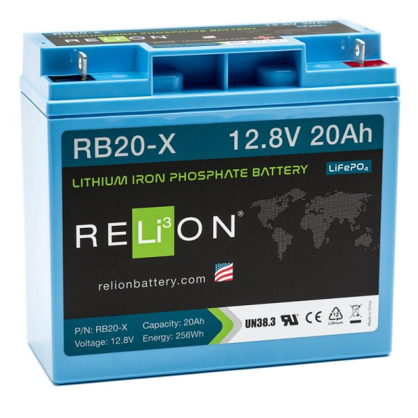 RELiON RB20-X 20Ah 12V LiFePO4 Lithium Versorgungsbatterie