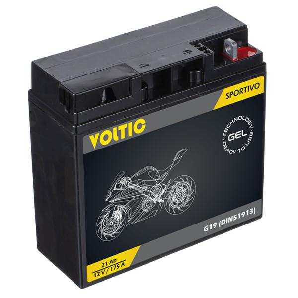 VOLTIC Sportivo GEL G19 Motorradbatterie 21Ah 12V (DIN 51913)