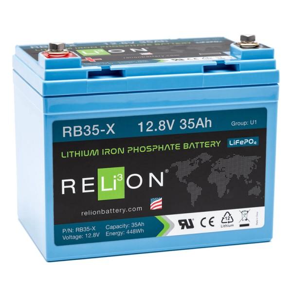 RELiON RB35-X 35Ah 12V LiFePO4 Lithium Versorgungsbatterie