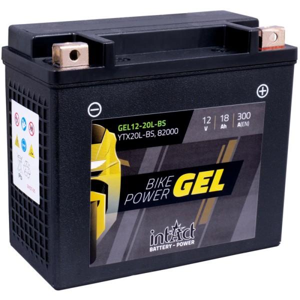 Intact GEL12-20L-BS Bike-Power GEL 18Ah Motorradbatterie (DIN 82000) YTX20L-BS