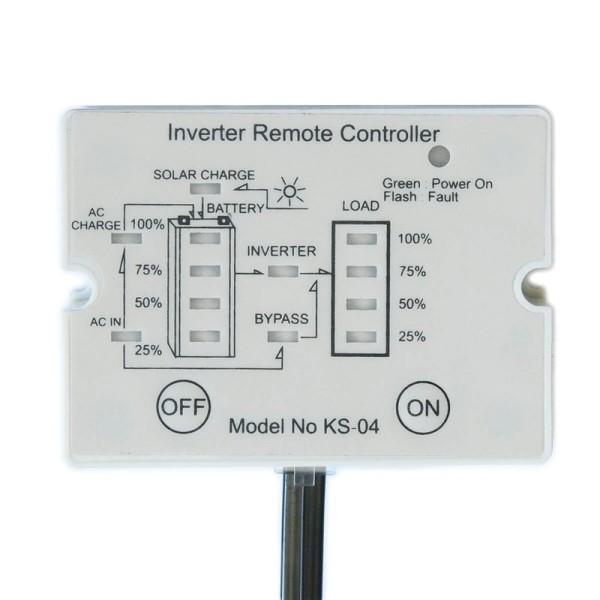 ECTIVE K04 Fernbedienung mit Ladestandsanzeige für Wechselrichter