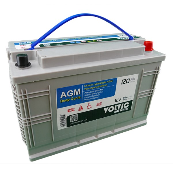 VOLTIC VDC120 Deep Cycle AGM 120Ah Batterie