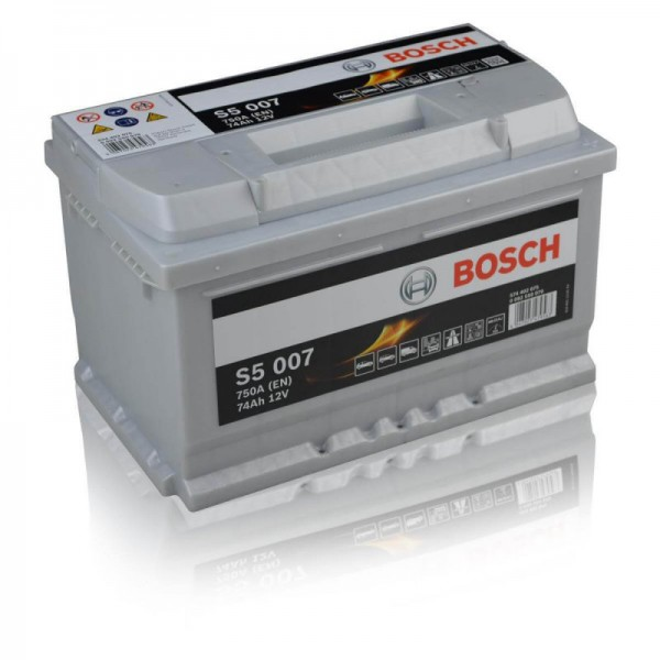 Bosch S5 007 74Ah Autobatterie 574 402 075