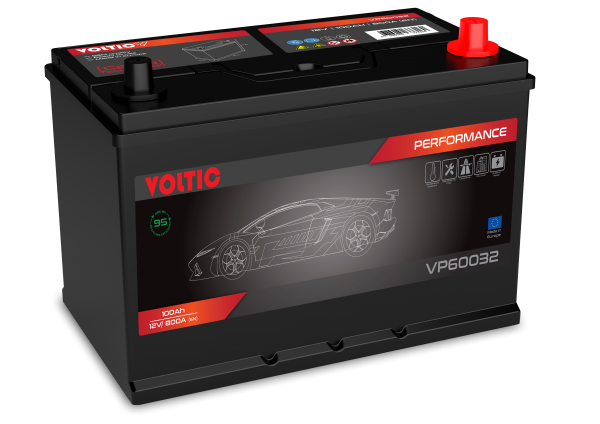 Voltic VP60032 Perfomance 100Ah Autobatterie