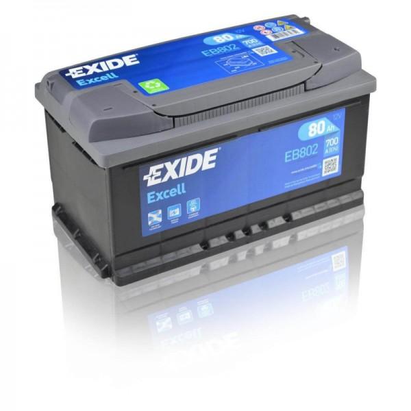 Exide EB802 EXCELL STARTERBATTERIE 12V 80AH 700A