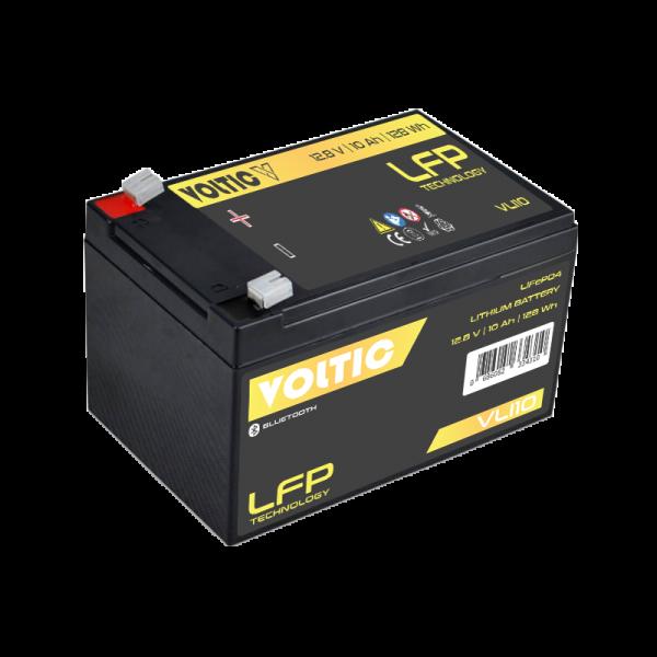 VOLTIC VLI10 12V LiFePO4 Lithium Versorgungsbatterie 10Ah mit App