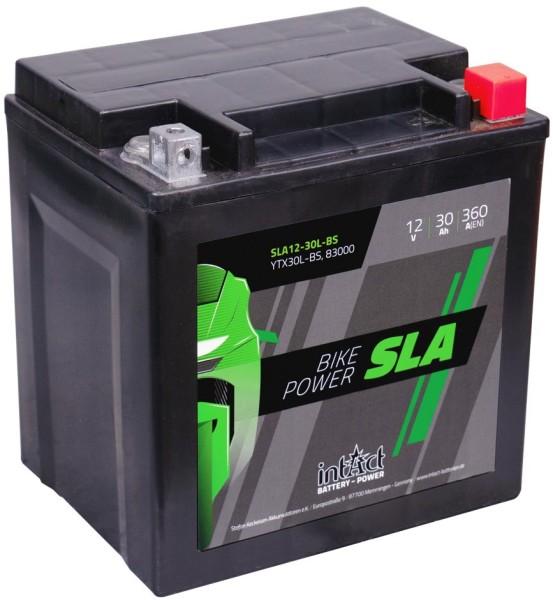 Intact SLA12-30L-BS Bike-Power SLA 30Ah Motorradbatterie (DIN 83000)