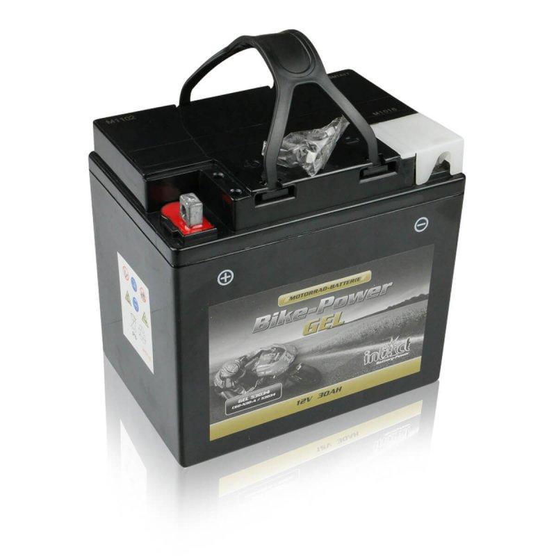 intact gel53034 bike power gel 30ah motorradbatterie din 53034 c60 n30 a. Black Bedroom Furniture Sets. Home Design Ideas