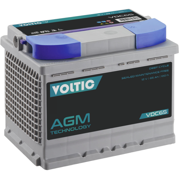 VOLTIC VDC65 Deep Cycle AGM 65Ah Batterie