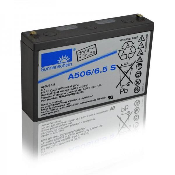 Sonnenschein-GEL-A506-6,5-S-6,5Ah-6V-Batterie
