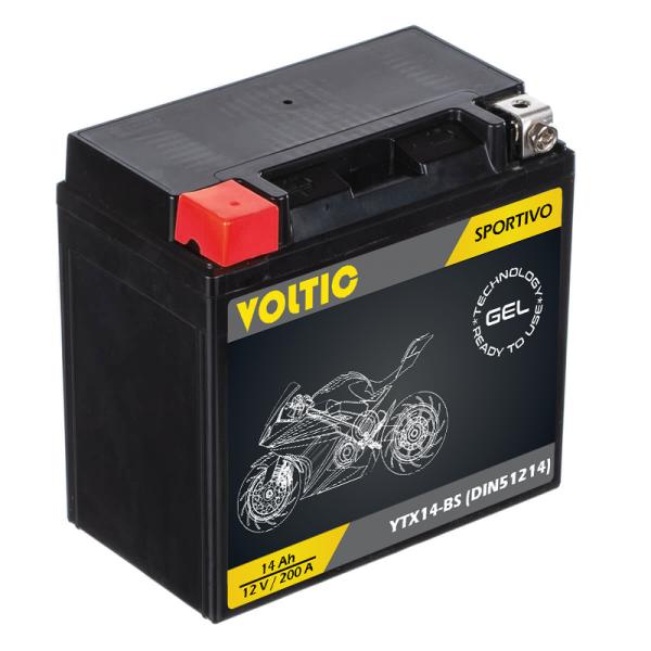 VOLTIC Sportivo GEL YTX14-BS Motorradbatterie 14Ah 12V (DIN 51214)