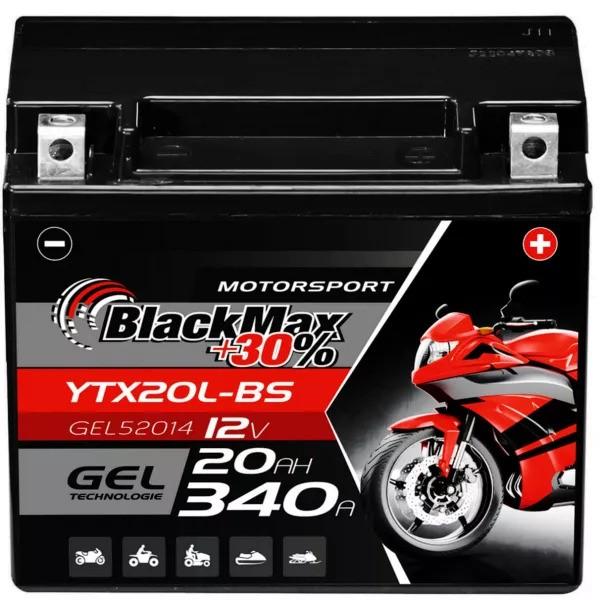 YTX20L-BS Motorradbatterie 12V 20Ah BlackMax Gel CTX20L-BS (DIN 82000)