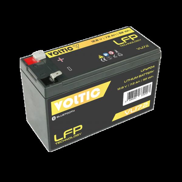 VOLTIC VLI7,2 12V LiFePO4 Lithium Versorgungsbatterie 7,2Ah mit App