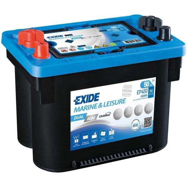Exide-EP450-Dual-AGM-50Ah-Batterie