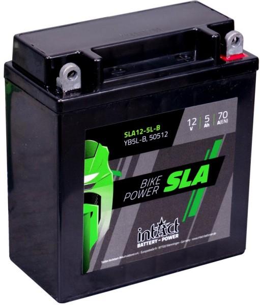 Intact SLA12-5L-B Bike-Power SLA 5Ah Motorradbatterie (DIN 50512)