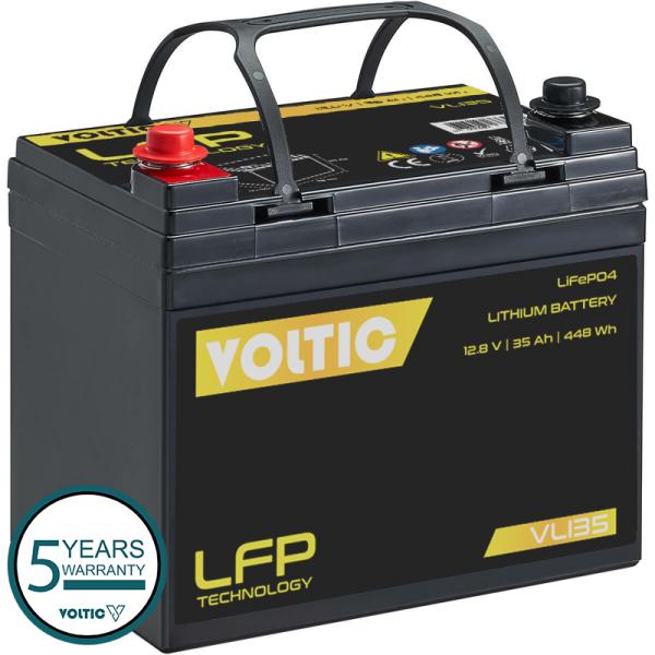 VOLTIC VLI35 12V LiFePO4 Lithium Versorgungsbatterie 35Ah