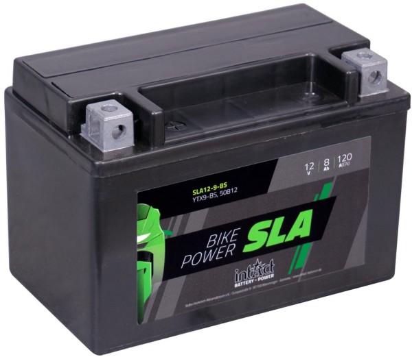 Intact SLA12-9-BS Bike-Power SLA 8Ah Motorradbatterie (DIN 50812)