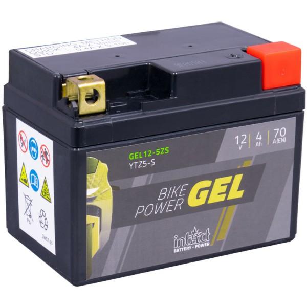 Intact GEL12-5ZS Bike-Power GEL 4Ah Motorradbatterie (DIN 50314) YTZ5S, YTX4L-BS