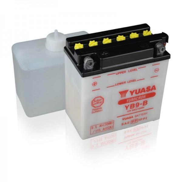 Yuasa-YB9-B-9A- Motorradbatterie-DIN-50914