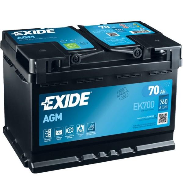 Exide EK700 AGM 70Ah Autobatterie 570 901 076