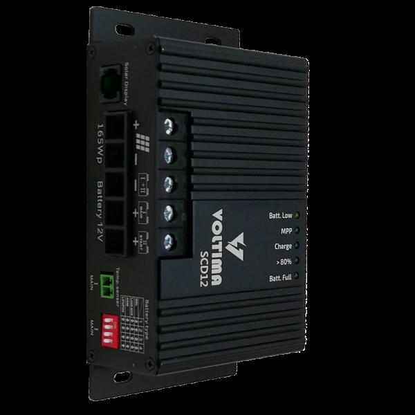VOLTIMA SCD12 MPPT Solar-Laderegler Dual 12V 165Wp 50V 12A