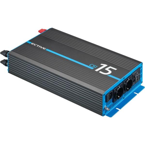 ECTIVE CSI 15 1500W/12V Sinus-Wechselrichter mit Ladegerät, NVS- und USV-Funktion