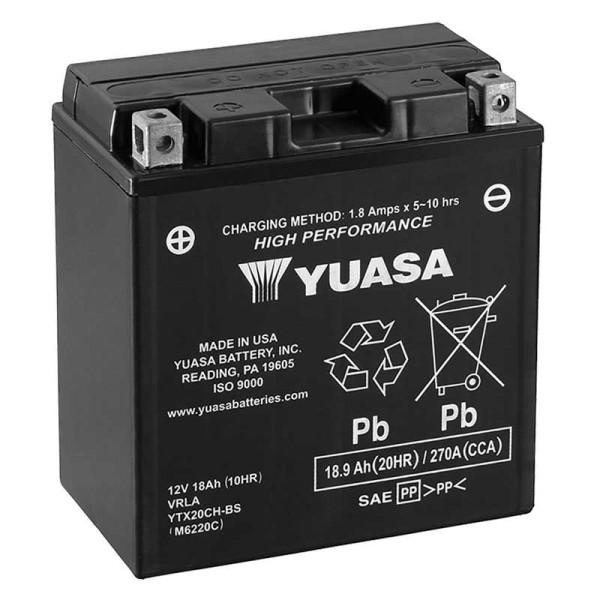YUASA YTX20CH-BS AGM 18Ah Motorradbatterie 12V (DIN 82002)
