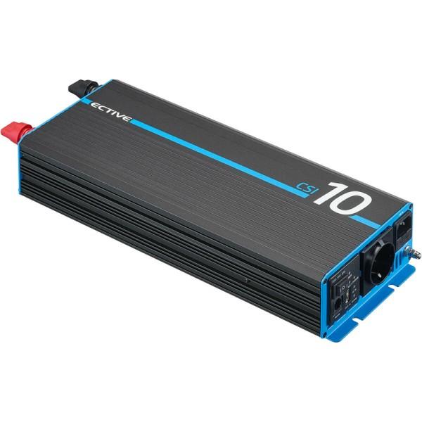 ECTIVE CSI 10 1000W/12V Sinus-Wechselrichter mit Ladegerät, NVS- und USV-Funktion