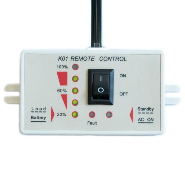 ECTIVE K01 Fernbedienung mit Ladestandsanzeige für Wechselrichter