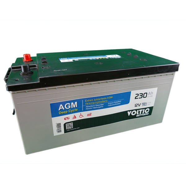 VOLTIC VDC230 Deep Cycle AGM 230Ah Batterie