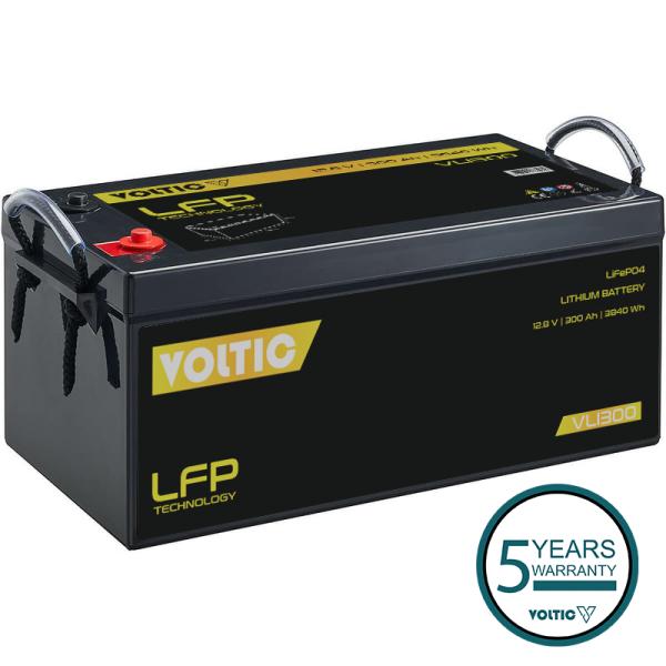 VOLTIC VLI300 12V LiFePO4 Lithium Versorgungsbatterie 300Ah