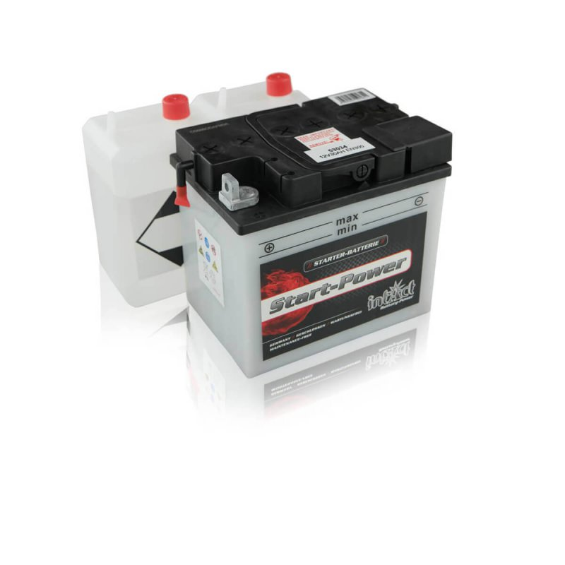 intact 53034 start power 30ah motorradbatterie din 53034. Black Bedroom Furniture Sets. Home Design Ideas