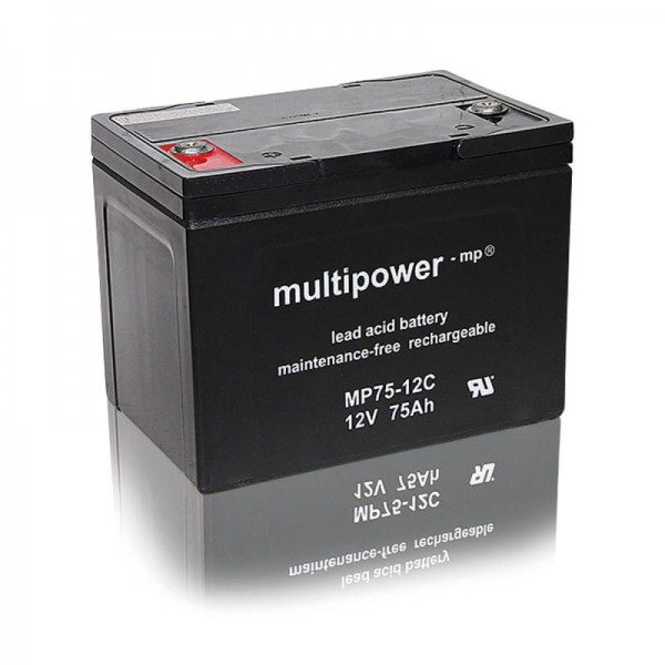 Multipower-MP75-12C-75Ah-AGM-Batterie