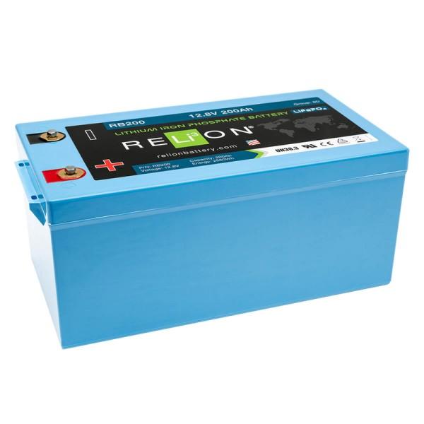 RELiON RB200 LiFePO4 Lithium 12V Versorgungsbatterie 200Ah