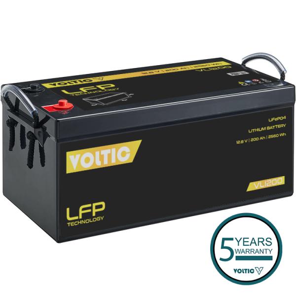 VOLTIC VLI200 12V LiFePO4 Lithium Versorgungsbatterie 200Ah